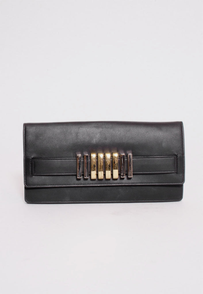 METAL EMBELLISHED CLUTCH