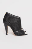 MESH PEEP TOE BOOTIES