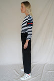 BLACK COTTON SAILOR PANTS
