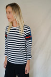 STRIPED PATCHWORK PATTERN TOP