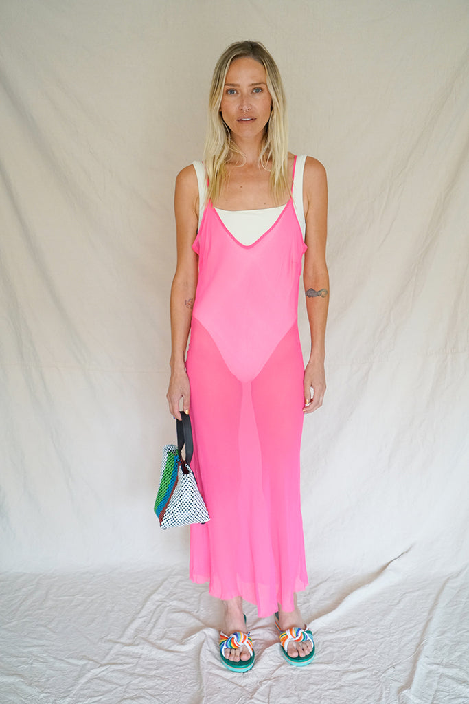 CHIFFON BIAS SLIP DRESS