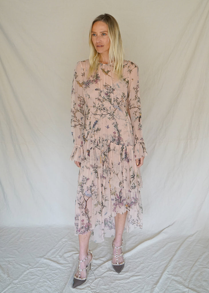 FLORAL MAPLES TIER DRESS WITH TAGS