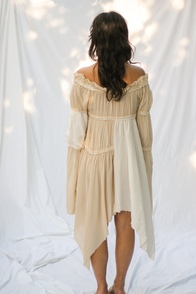 LINEN PATCHWORK DRESS