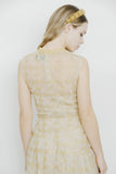 GOLD METALLIC CHECK DRESS