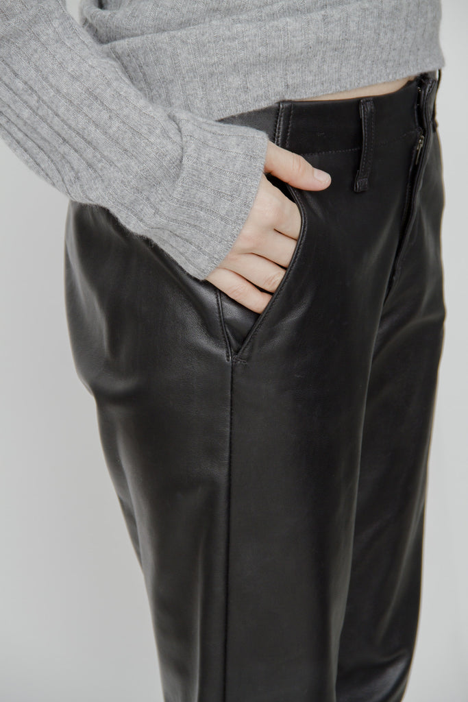 PAJAMA LEATHER PANTS