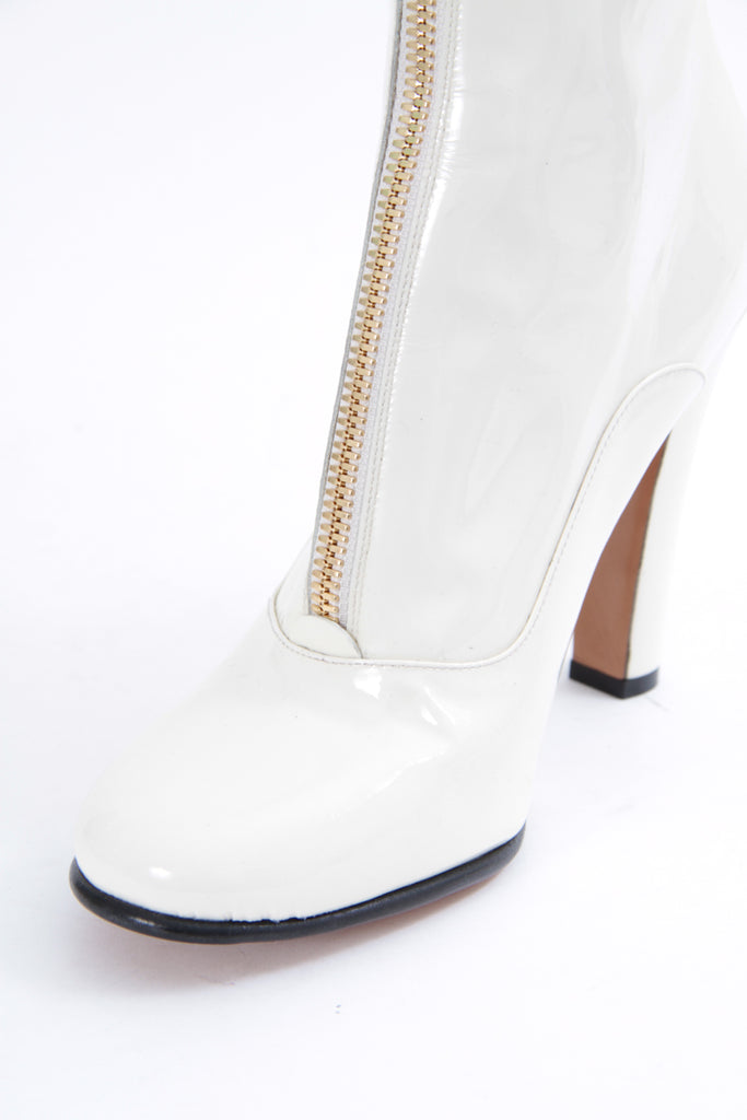 PATENT ZIP BOOT WITH TAGS