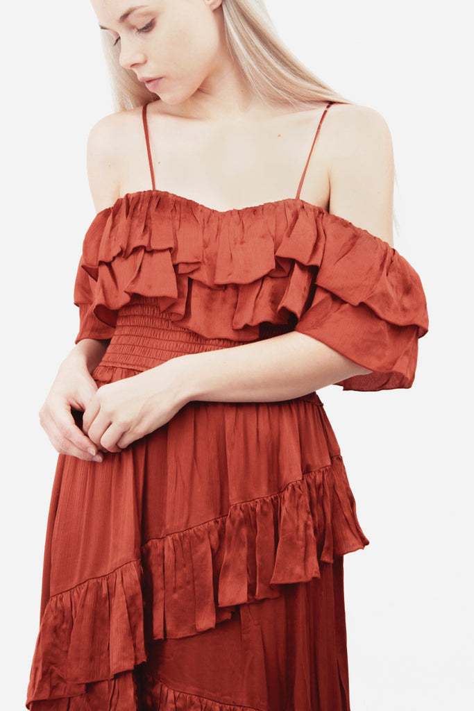 LOUISA CRIMSON DRESS