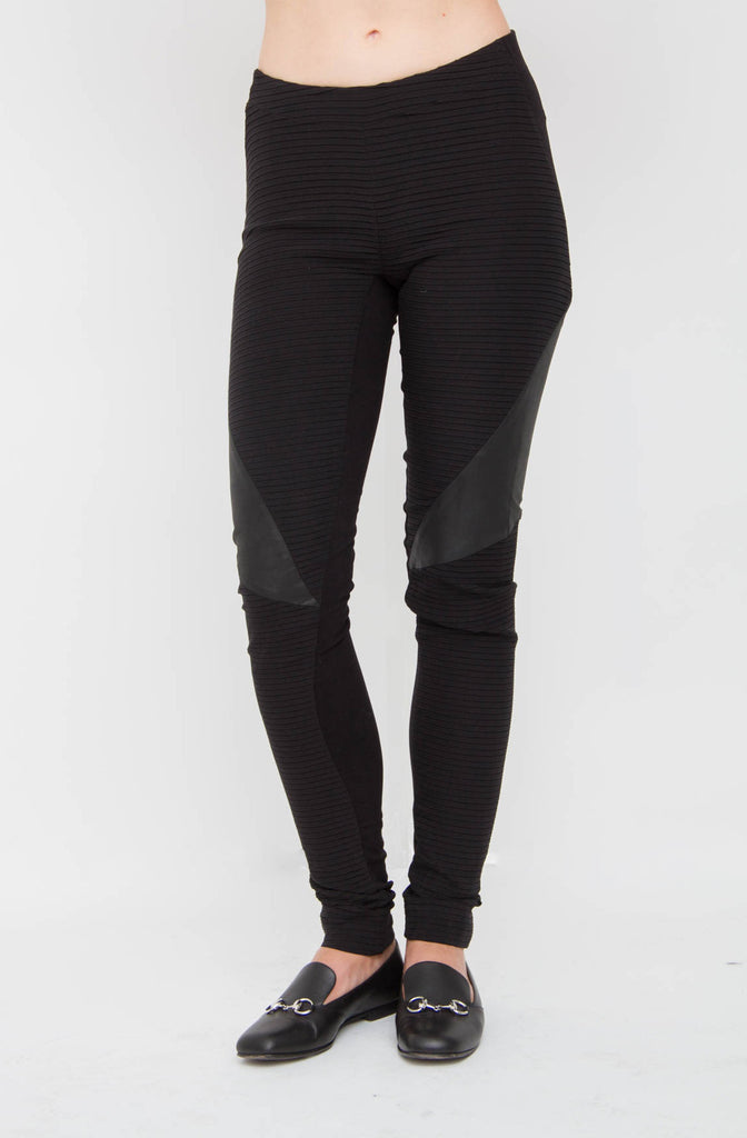 LEATHER PANEL PANTS