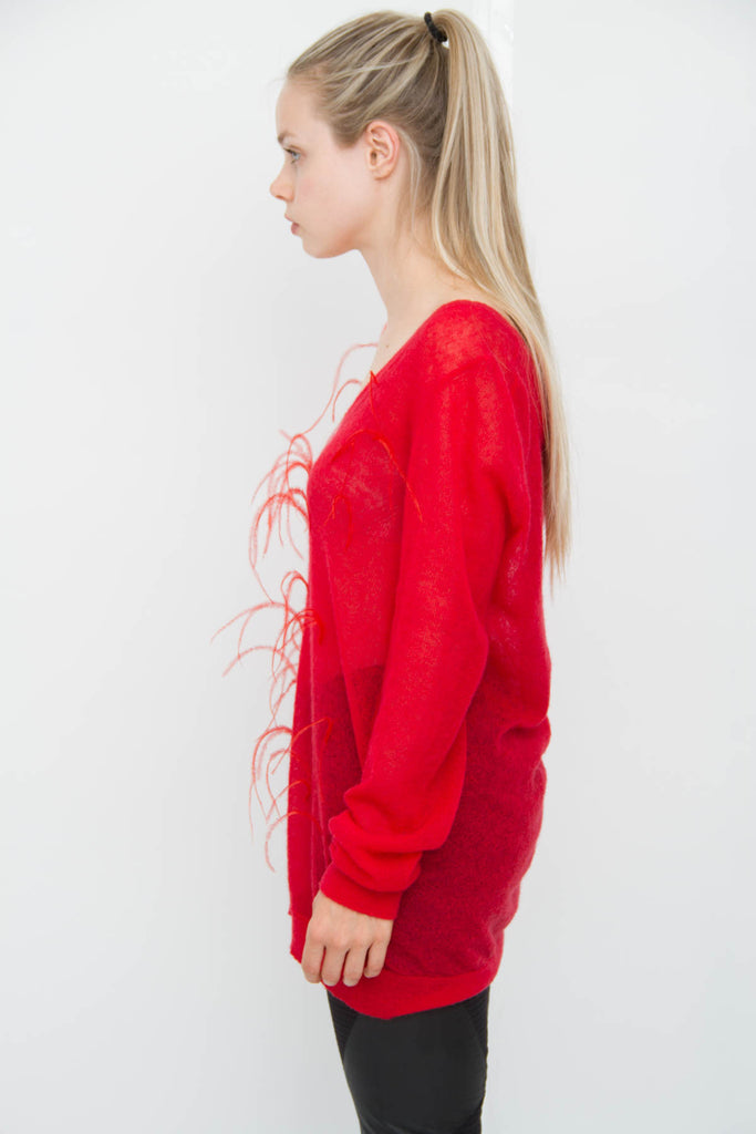 MOHAIR FEATHER SWEATER