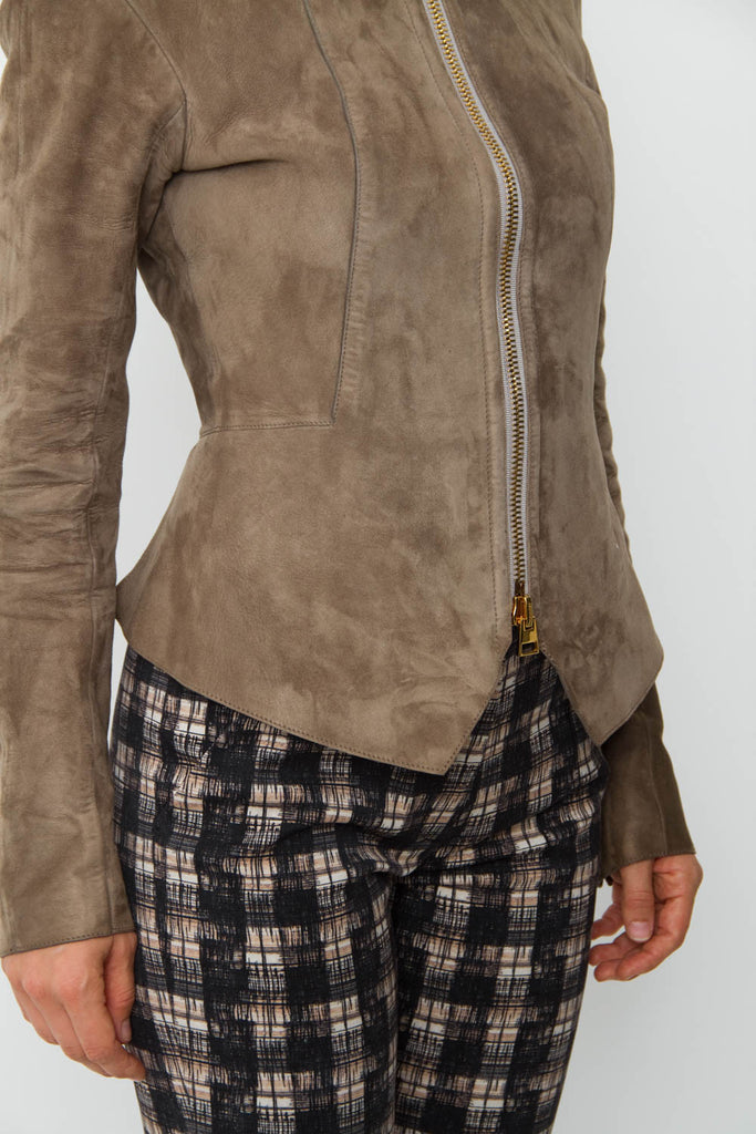 TAUPE SUEDE JACKET