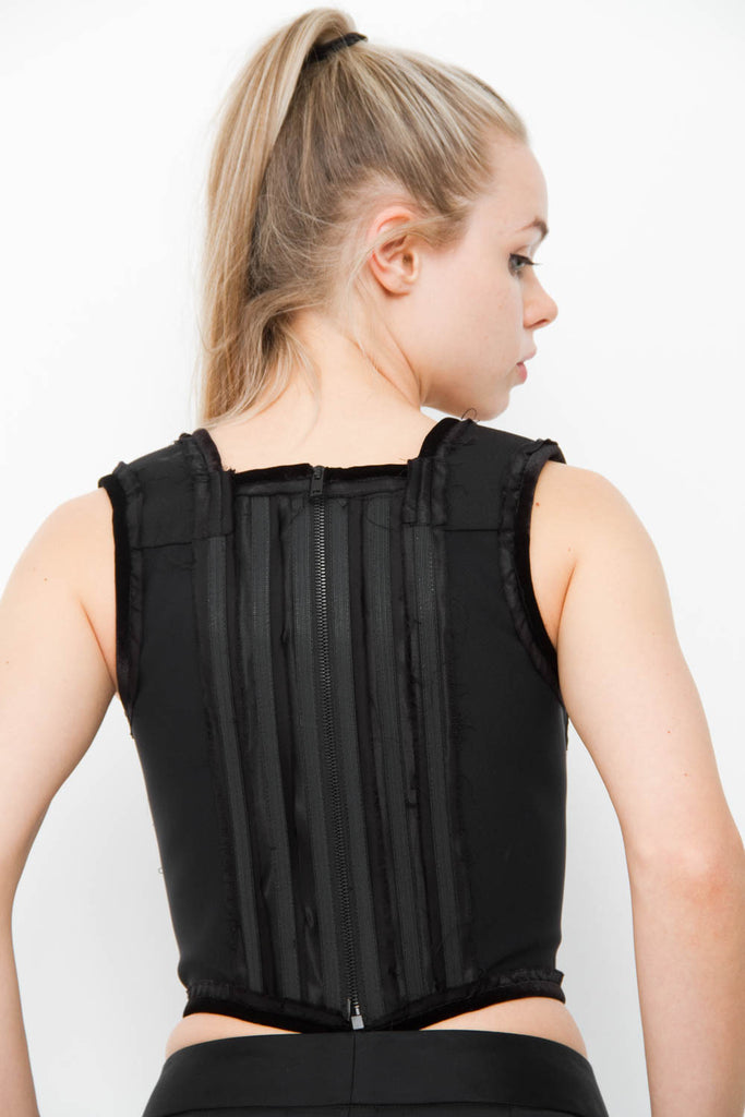PANELLED CORSET TOP