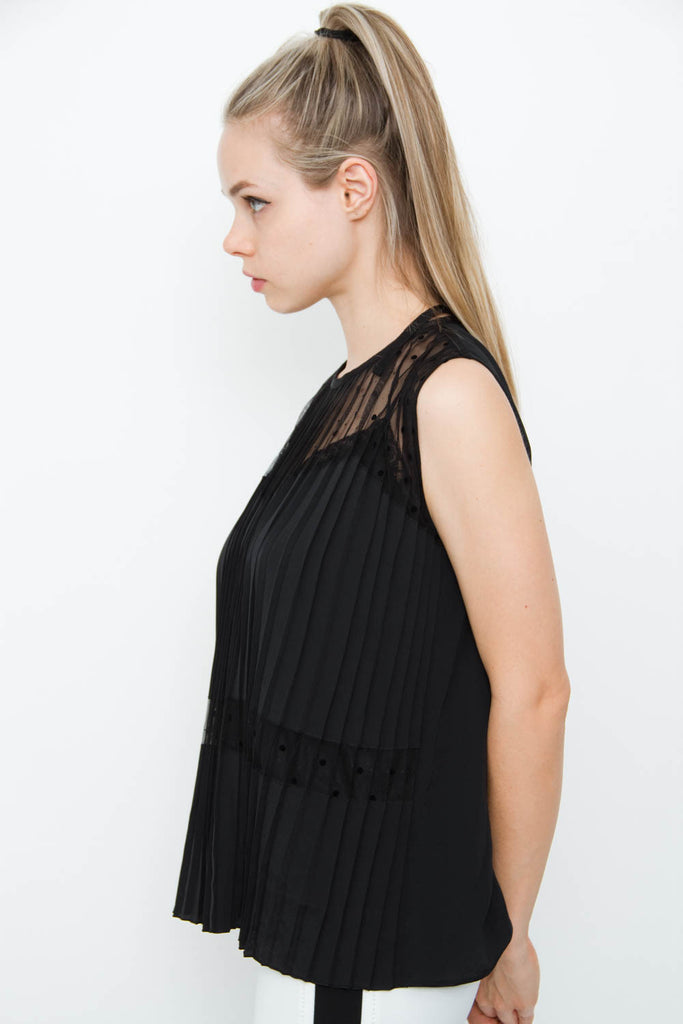 PLEATED SILK TOP