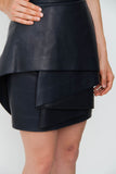 NAVY LEATHER DRESS