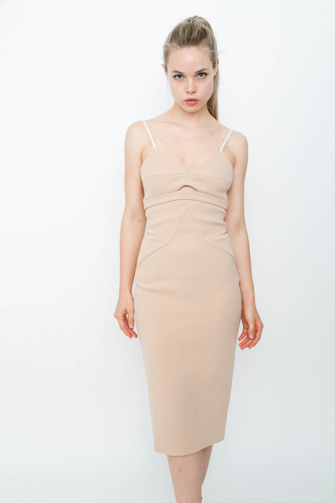 NUDE CUTOUT DRESS