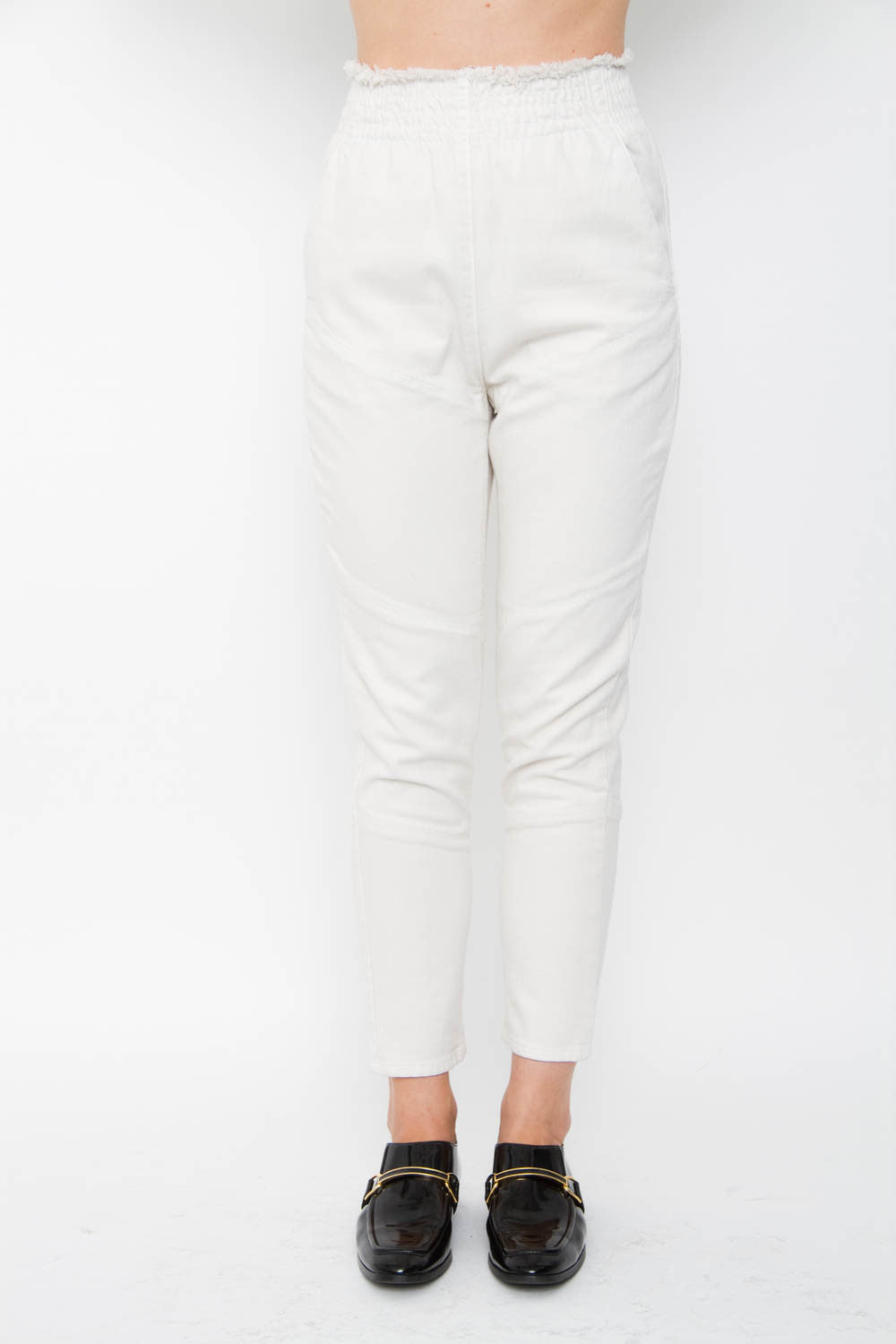 IVORY CANVAS PANTS