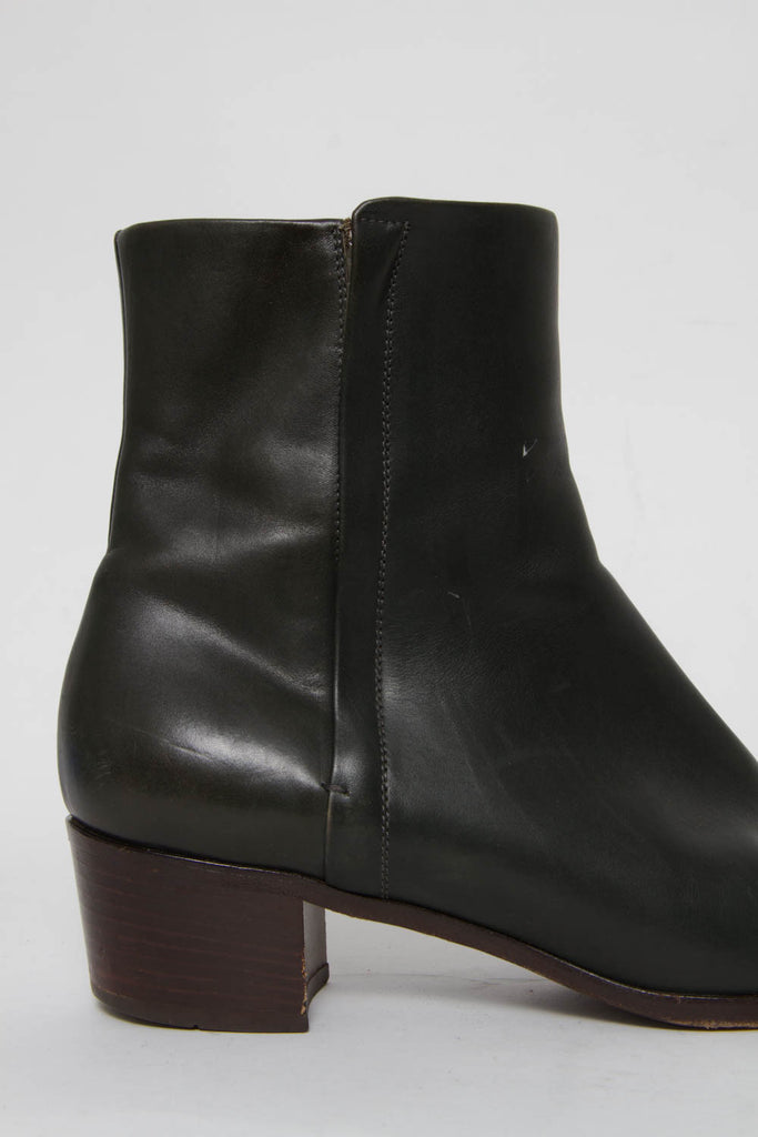 HUNTER GREEN ANKLE BOOTS
