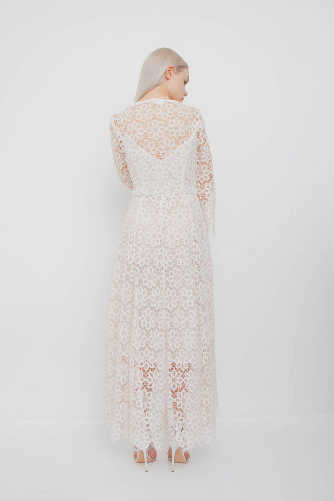 EMPIRE GUIPURE LACE DRESS