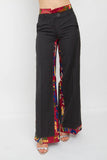 PINSTRIPE WIDE LEG PANTS