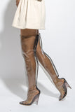 TUBULAR THIGH HIGH BOOTS