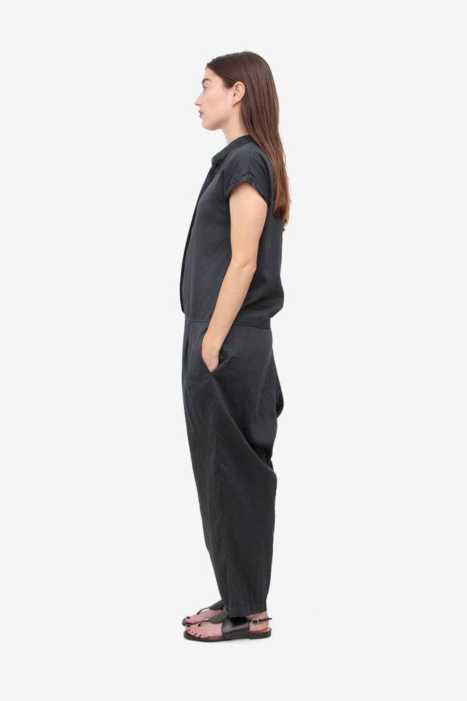 CHARCOAL POPLIN JUMPSUIT