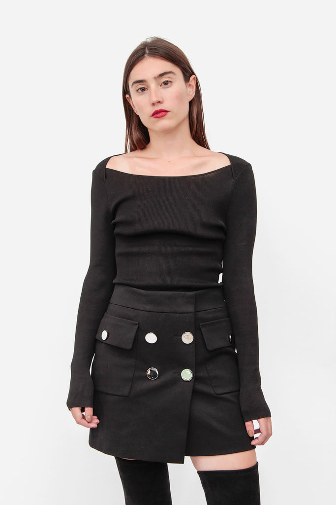 BUTTON MINI SKIRT