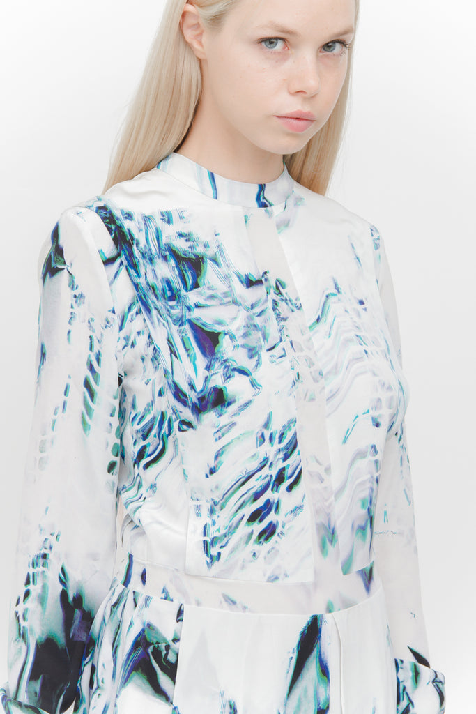 HOLOGRAPHIC PRINT DRESS