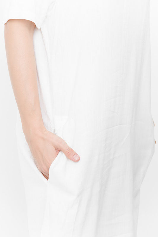FRAYED HEM DRESS