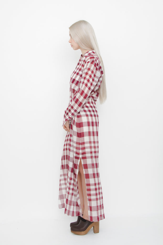 JINNIEFELD GINGHAM WRAP DRESS WITH TAGS
