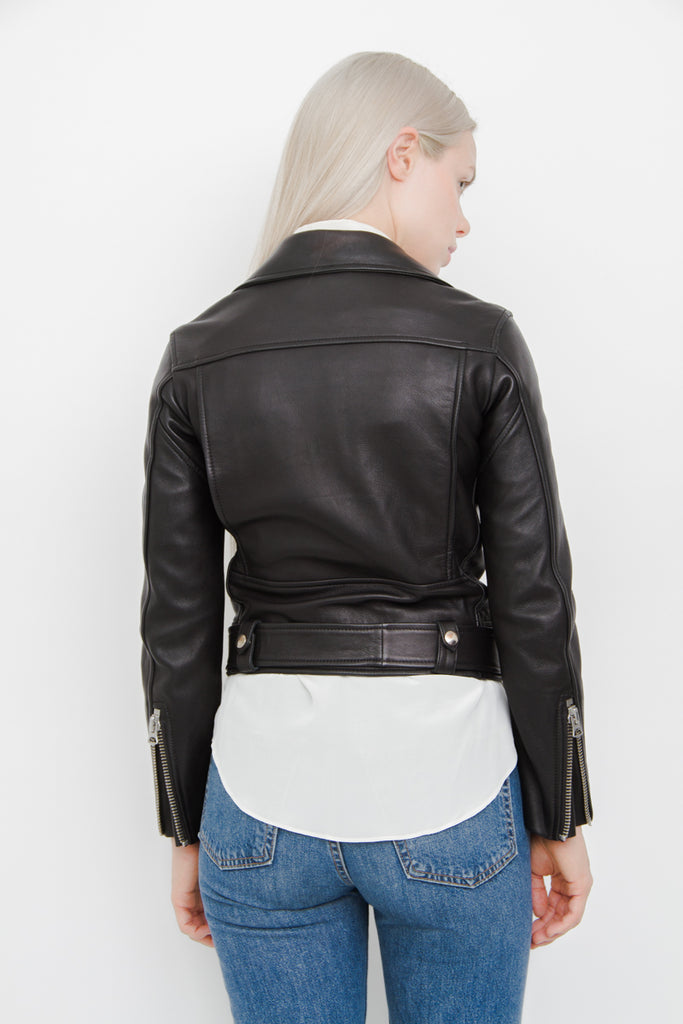 MOCK LEATHER JACKET
