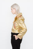 2017 NEW GOLD LEATHER JACKET