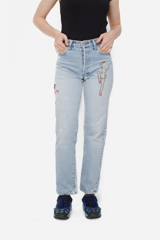 PINUP EMBROIDERED JEANS