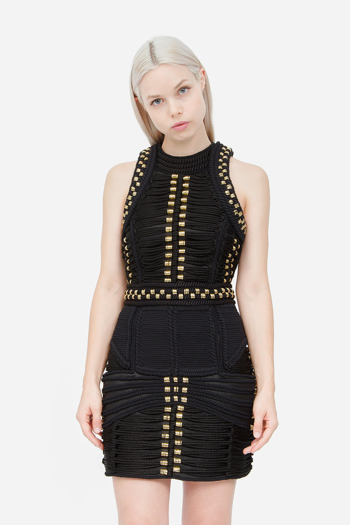 CORD ROPE MINI DRESS