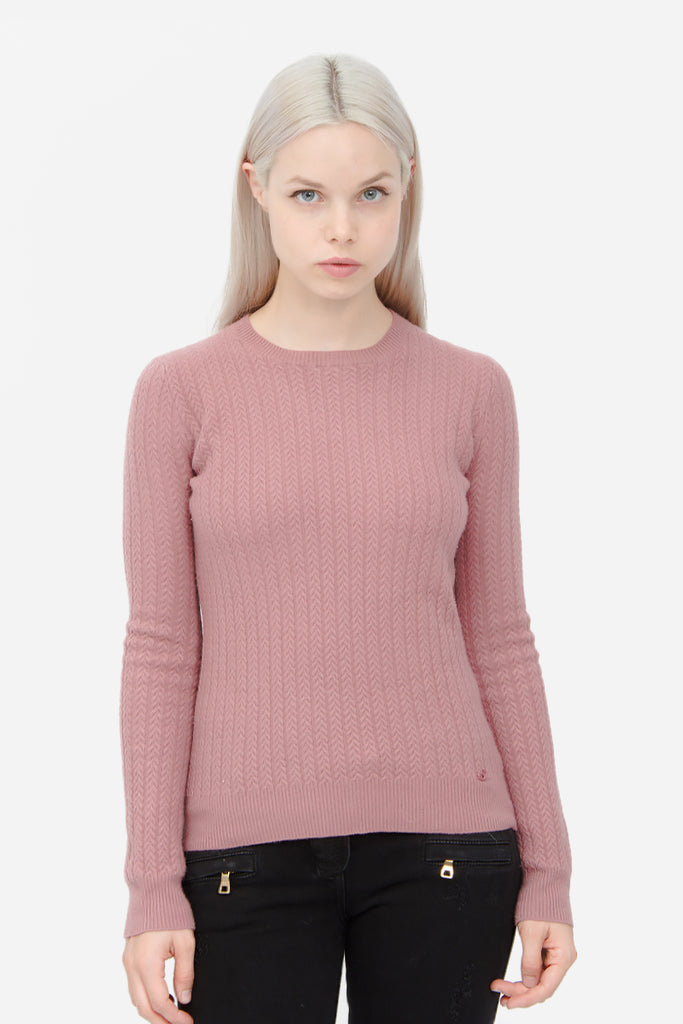 BLUSH CABLEKNIT SWEATER
