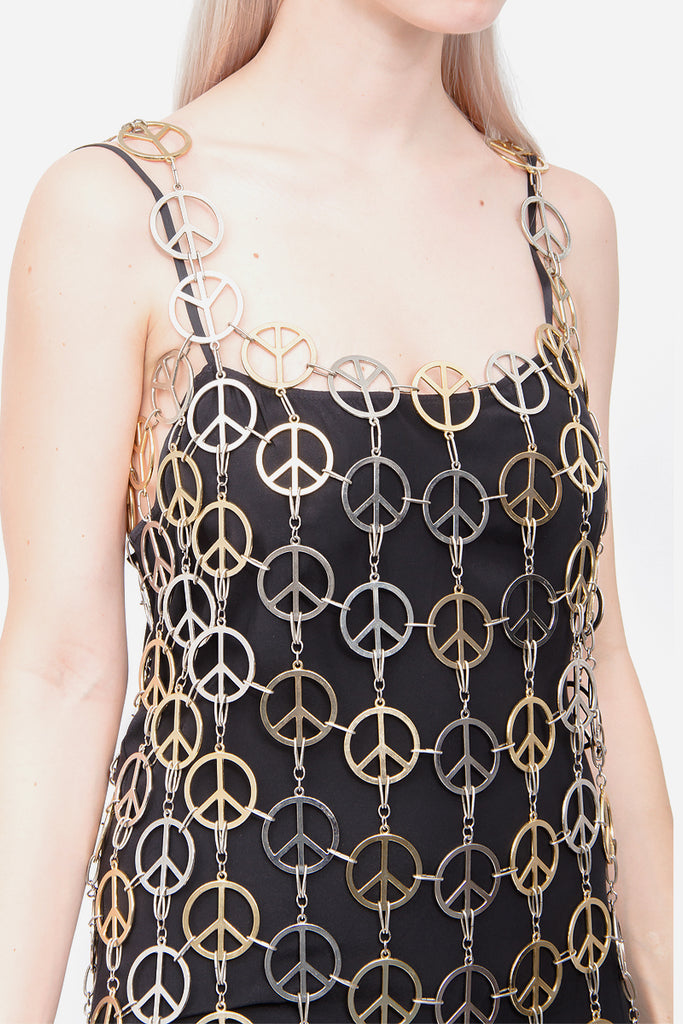 METAL PEACE SIGN DRESS