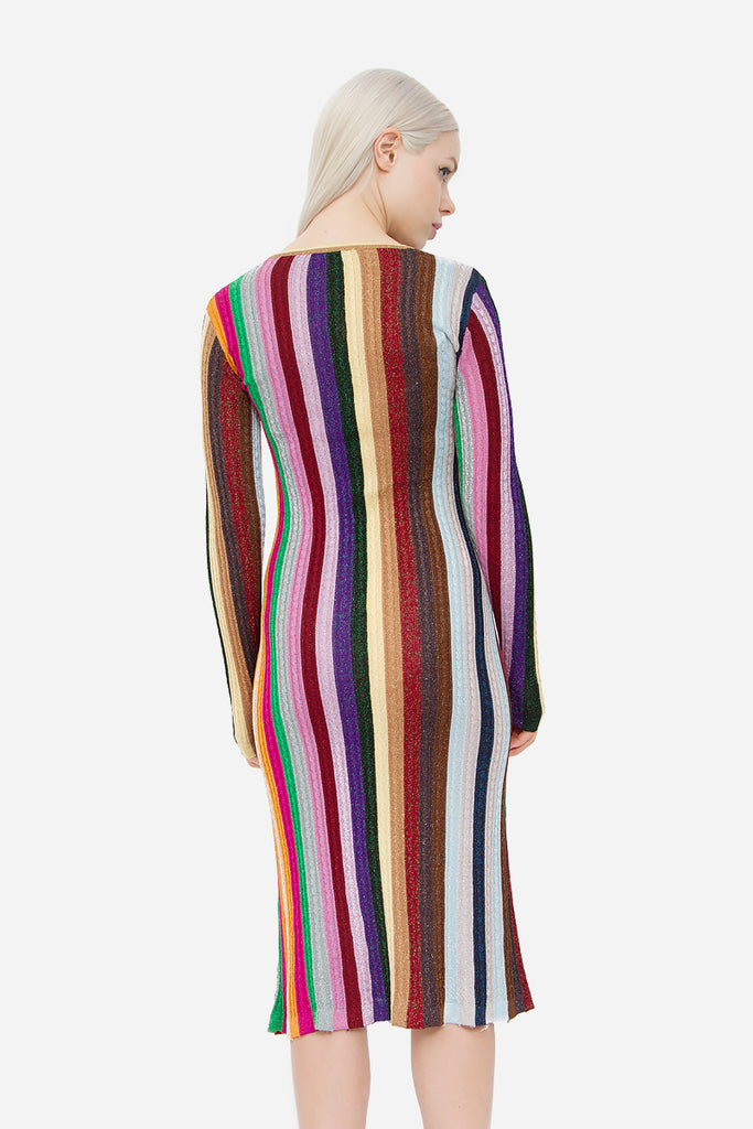 FW 2015 RAINBOW STRIPE DRESS