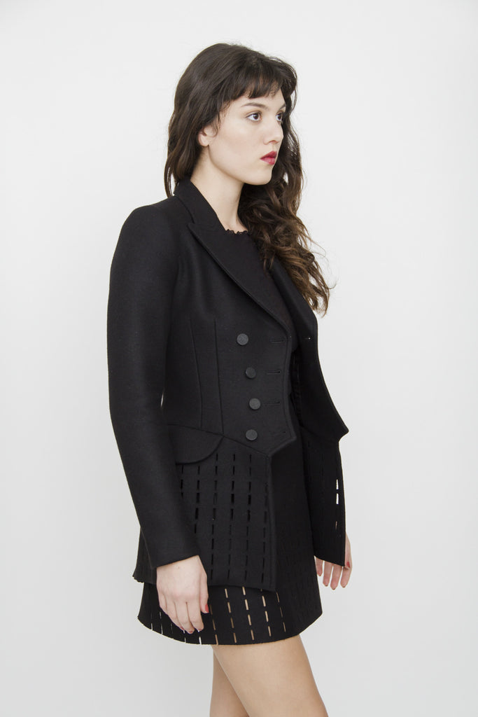 WOOL CUT OUT PEACOAT