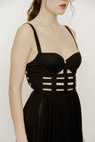 CAGED BUSTIER DRESS