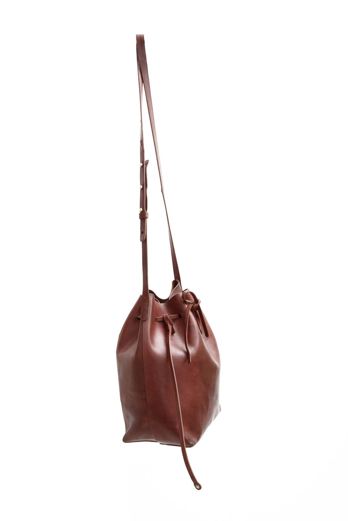 LARGE BROWN BUCKET BAG