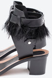 JUDIE FEATHER SANDAL