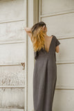 GRAY WOOL KNIT GOWN