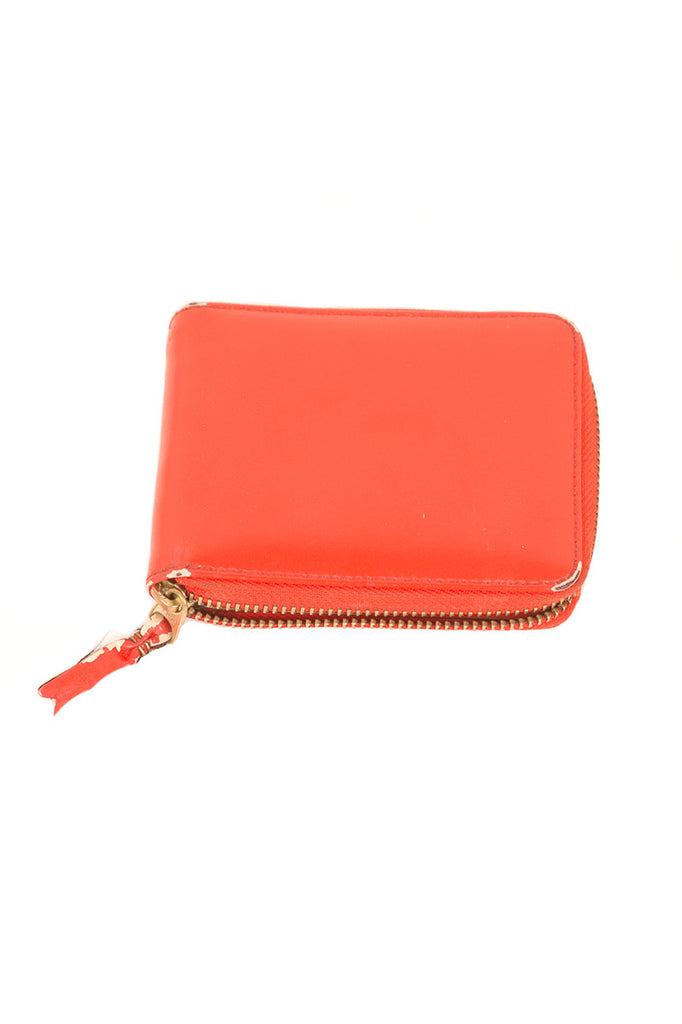 ORANGE LEATHER ZIP WALLET