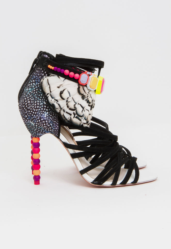 ALESSANDRA FEATHER HEELS