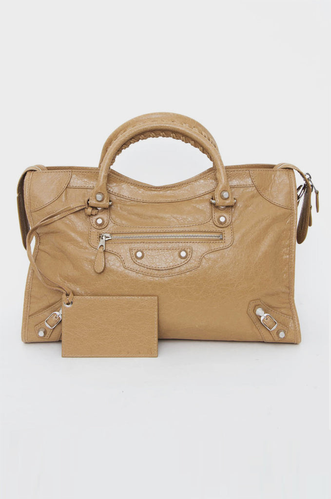 GIANT CITY BEIGE PURSE