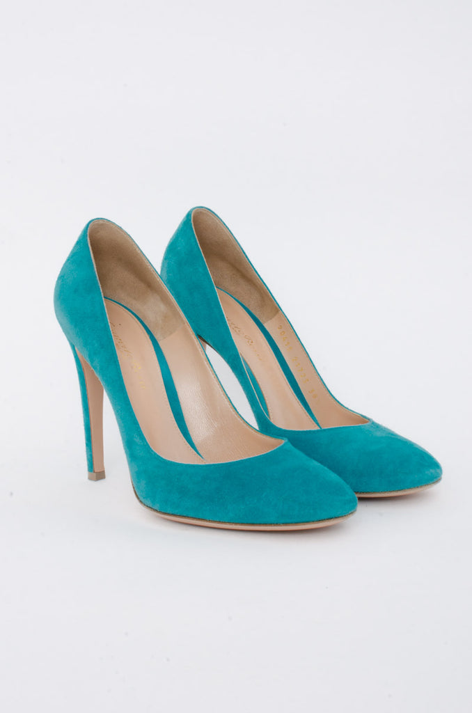CYAN SUEDE STILETTO
