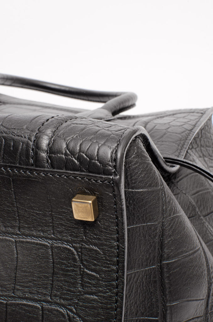 EMBOSSED PHANTOM LUGGAGE BAG