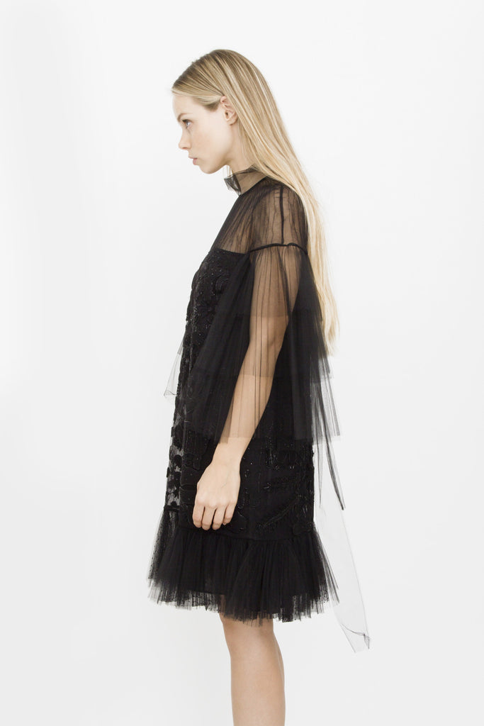 TULLE TIERED DRESS