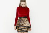 TIERED LEOPARD SKIRT