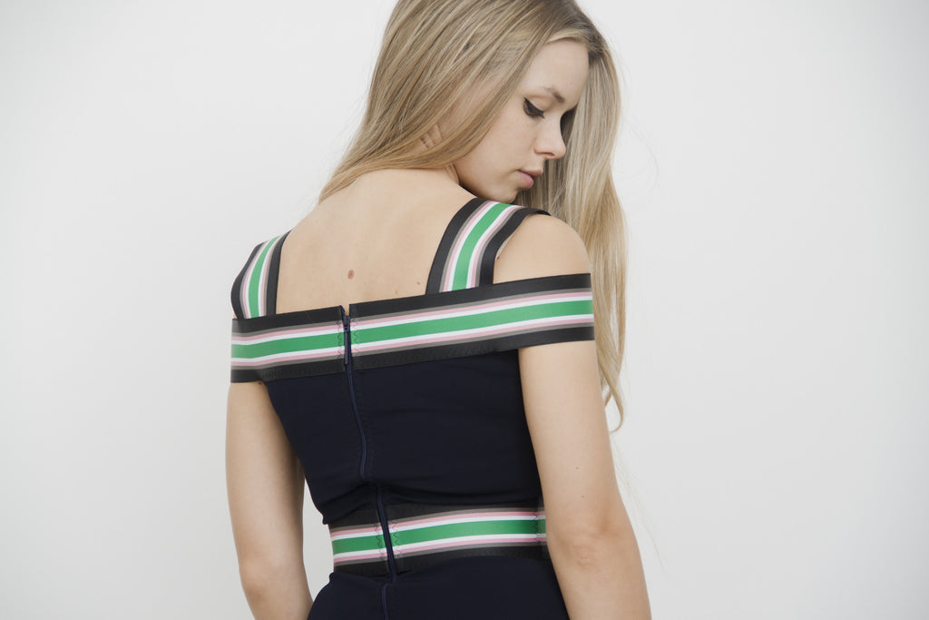 STRIPE BANDAGE DRESS