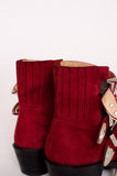 RED BUCKLE ANKE BOOTIES
