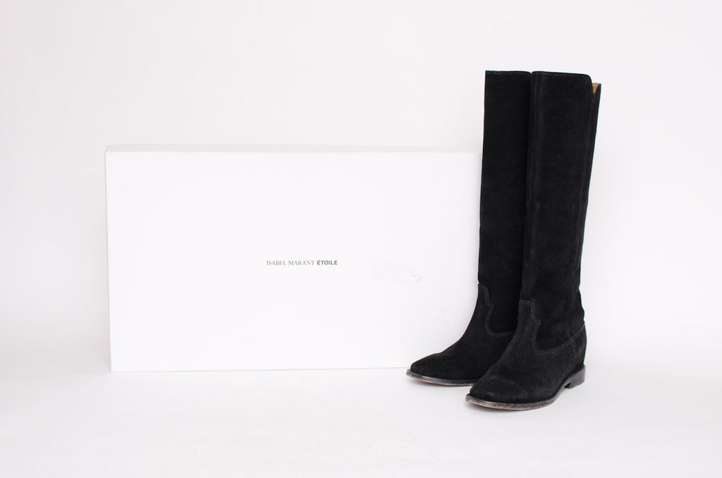 CLEAVE SUEDE KNEE HIGH BOOTS